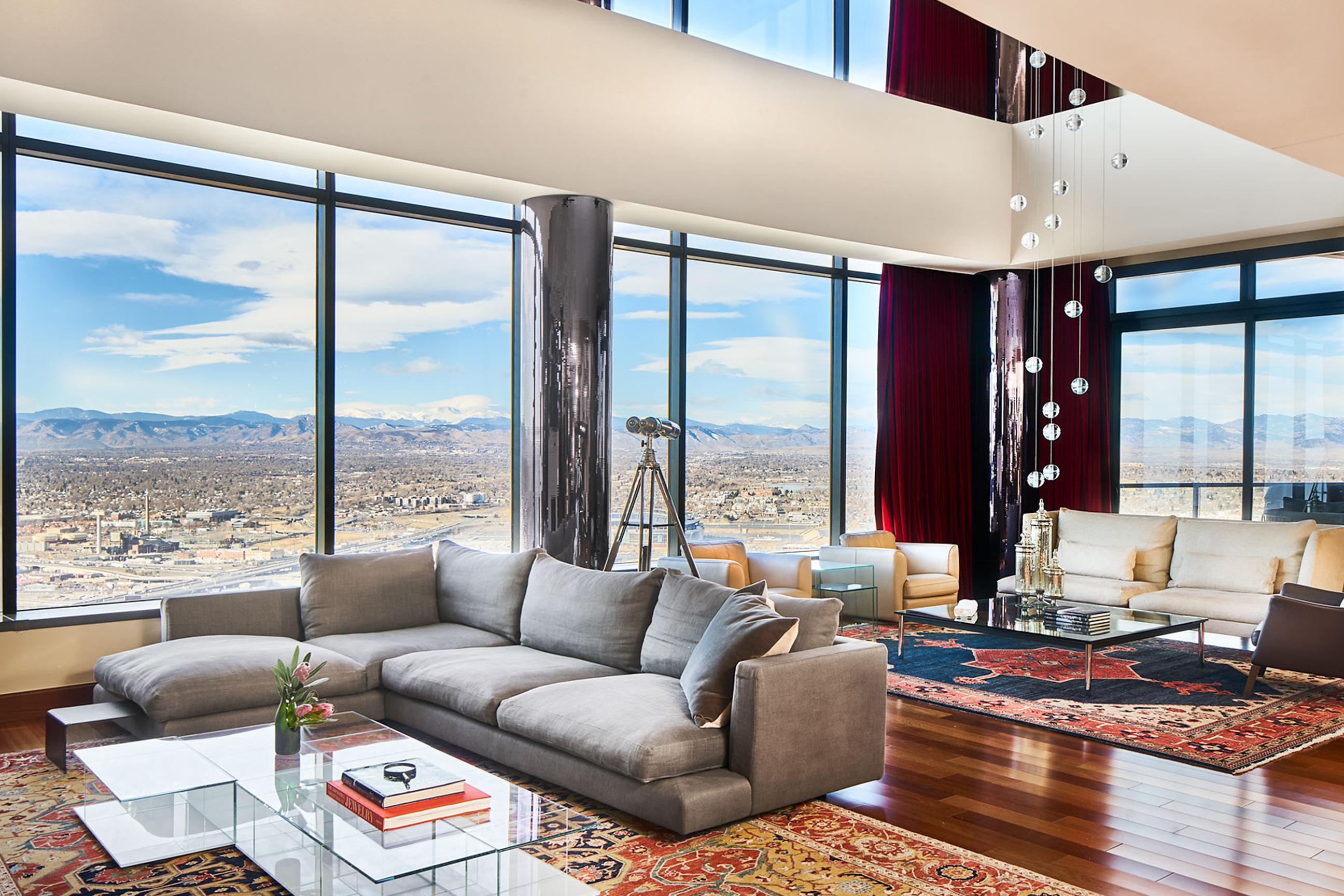 Living Room Denver : DENVER'S GRAND PENTHOUSE #4400